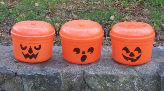 1986 McDonald's Halloween buckets.