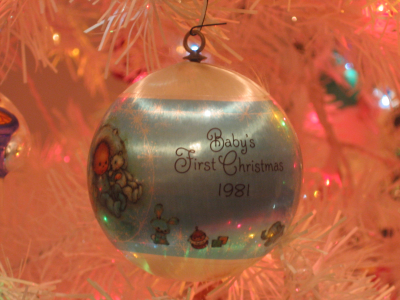 its the decorations and since i have a bunch of twenty year old christmas ornaments i figured i might as well write about them